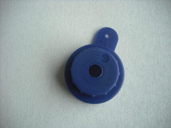 Spuitkop-dop conisch pu blauw 16 mm